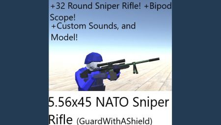 5.56x45 NATO Bolt Sniper Rifle (Custom Sounds/Model!) -GuardWithAShield