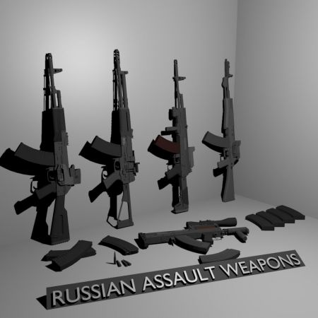 Modern Russian Assault Weapons Pack